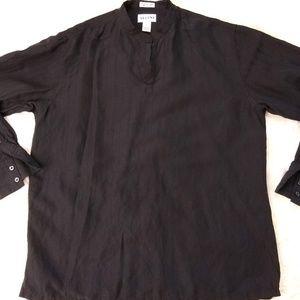 Alfani | Silk and Linen Long Sleeve Shirt